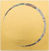 untitled 2017 (eclipse of the soul) (Thai Rath, Friday, March 25, 2016) by Rirkrit Tiravanija contemporary artwork mixed media