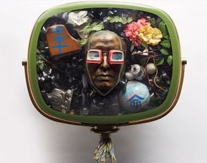 Self-portrait by Nam June Paik contemporary artwork sculpture, mixed media
