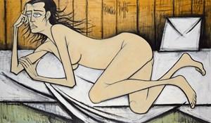 Nu sur fond beige by Bernard Buffet contemporary artwork