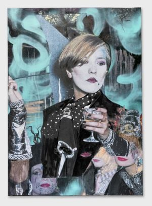 Dans les Volutes Pavilionesque by Paulina Olowska contemporary artwork