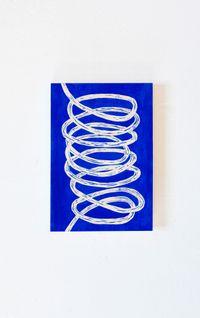 Blue loop by Claudia Terstappen contemporary artwork print