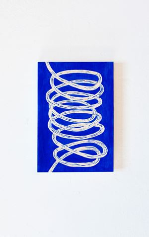Blue loop by Claudia Terstappen contemporary artwork