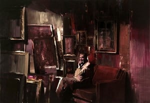 The Collector by Adrian Ghenie contemporary artwork