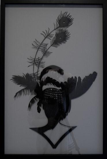 Peacock girl by Lonnie Hutchinson contemporary artwork