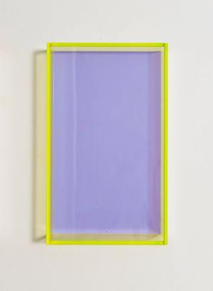 Colormirror pastel violet Milan by Regine Schumann contemporary artwork