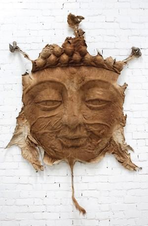 Cowskin Buddha Face No. 7 by Zhang Huan contemporary artwork