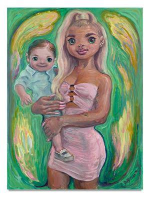 Blonde Mom by Delia Brown contemporary artwork