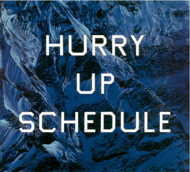 Hurry Up Schedule, 2002 by Ed Ruscha contemporary artwork