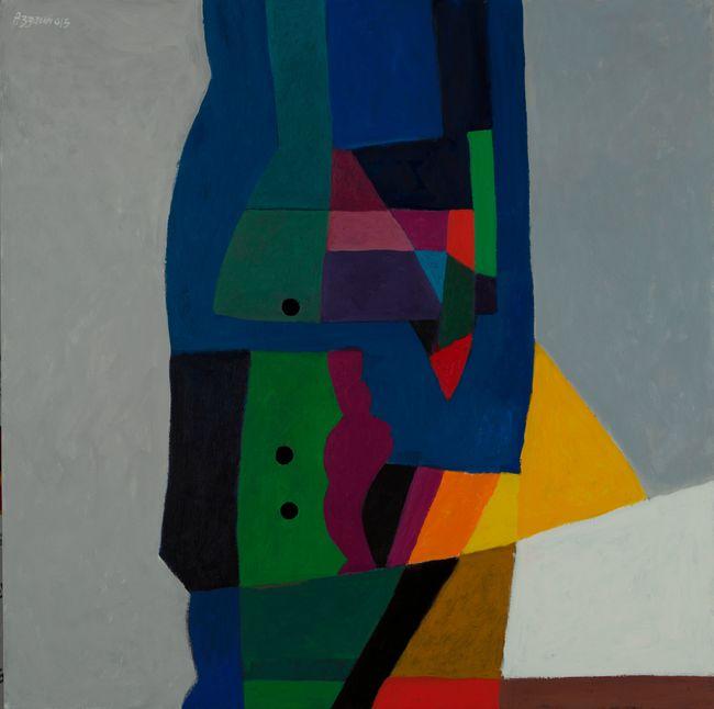 Three hollows in coloured window by Dia Al-Azzawi contemporary artwork
