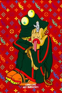 The Breaking of Our Middle Finger by Uji 'Hahan' Handoko Eko Saputro contemporary artwork painting