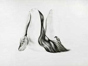 Poised runner by Patricia Piccinini contemporary artwork drawing
