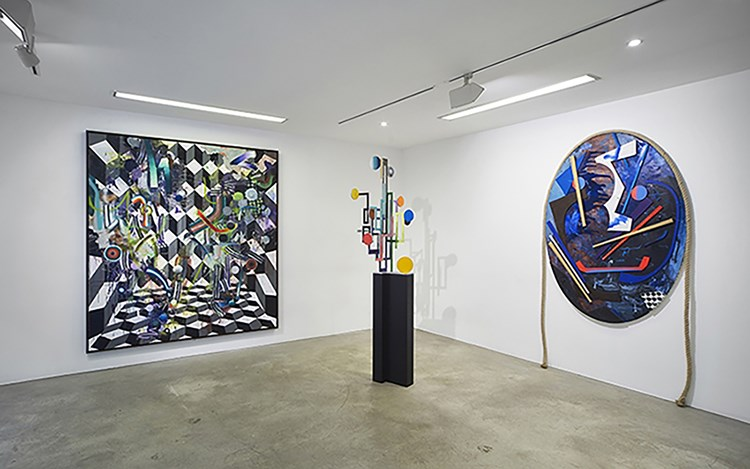 Exhibition view: Group Exhibition,Fünfklang, CHOI&LAGER Gallery, Cologne (9 September–12 November 2017). Courtesy CHOI&LAGER Gallery.