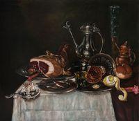 Juanito's breakfast (Happy Haarlem) by Jan Van Imschoot contemporary artwork painting, works on paper