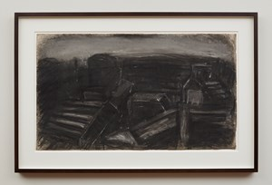 City Rooftops by Leon Kossoff contemporary artwork
