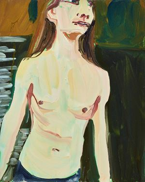 MAN IN A RIVER by Chantal Joffe contemporary artwork