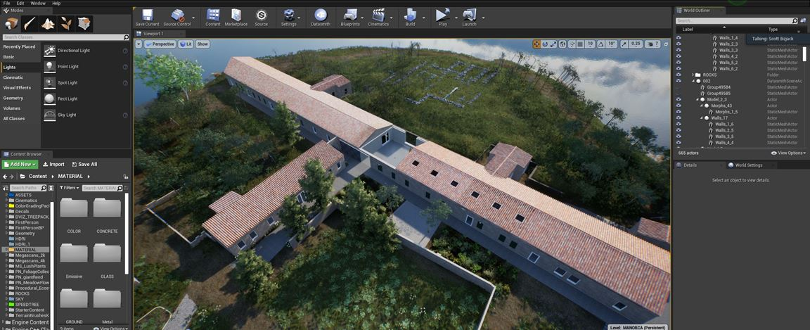 ArtLab, in software exterior view of Hauser & Wirth Menorca created in HWVR. Courtesy Hauser & Wirth.
