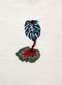 A quimera das plantas [Costela de adão e folha da Begônia] by Brígida Baltar contemporary artwork textile, textile, textile, textile