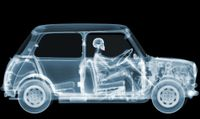 1970 Mini Driver by Nick Veasey contemporary artwork print