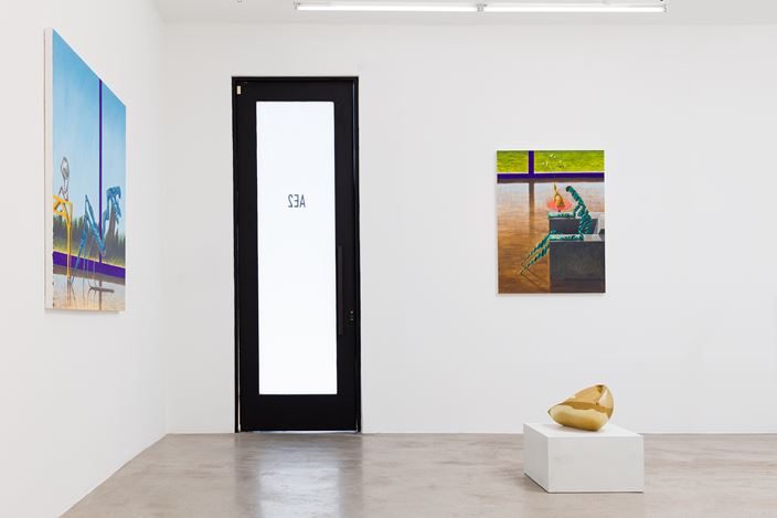 Exhibition view:Alejandro Cardenas & An Te Liu, AE2, Los Angeles (11 July–5 September 2020). Courtesy Anat Ebgi.