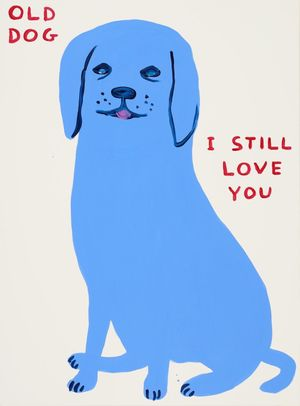 Old Dog, I still Love You by David Shrigley contemporary artwork print