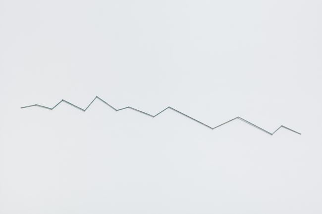 Fourteen Pieces Of Wood Skyline Ridge. Shikoku Japan by Hamish Fulton contemporary artwork