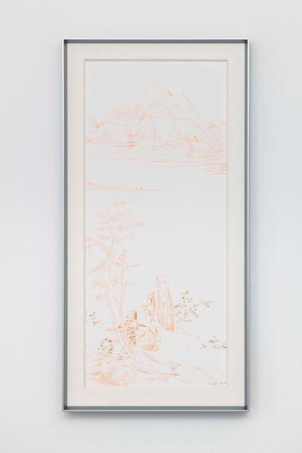 Copy of Ni Zan's Pine Pavilion Mountain Scene by Cui Jie contemporary artwork