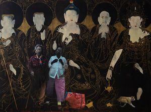 Amithaba Buddhas by Helena Parada Kim contemporary artwork