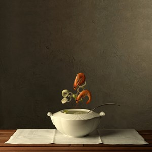 Food Portraits - Soup of the Day by Marie Cecile Thijs contemporary artwork