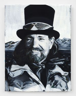 Willie Nelson by Sam McKinniss contemporary artwork