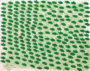 Heart Lotuses No. 1 by Yeh Shih-Chiang contemporary artwork