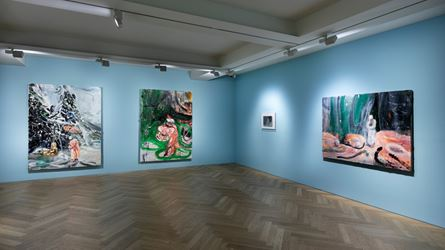 Exhibition view: Qiu Xiaofei,Fade Out, Pace Gallery, Seoul (11 December 2018–23 February 2019). Courtesy the artist and Pace Gallery.