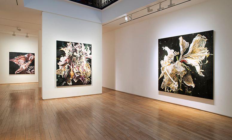 Exhibition view: Philippe Cognée, Carne dei fiori, Templon, 28 Grenier Saint-Lazare, Paris (11 January–7 March 2020). © Courtesy Templon, Paris - Bruxelles.Photo: BertrandHuet-Tutti.