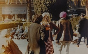 Roberta and Irwin Meet for the First Time in Union Square by Lynn Hershman Leeson contemporary artwork