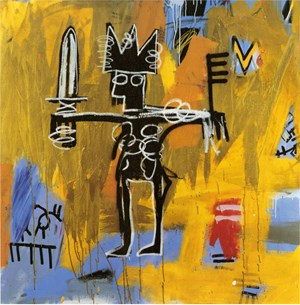 Untitled (Julius Caesar on Gold) by Jean-Michel Basquiat contemporary artwork