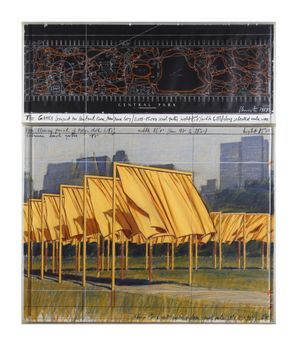 The Gates: Project for Central Park, New York City by Christo & Jeanne-Claude contemporary artwork