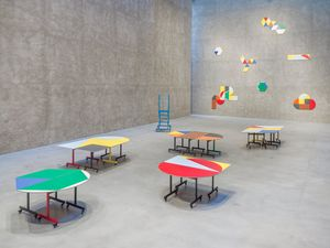Rearranging the conference table by Amalia Pica contemporary artwork