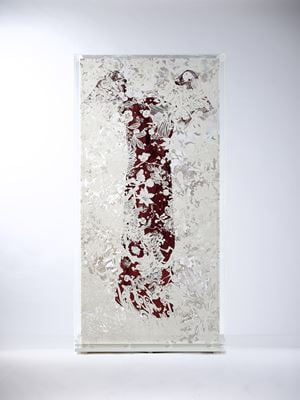 Echoes Crystallization-Red Dress by Shinji Ohmaki contemporary artwork