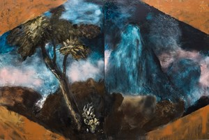 Two Sections from Clark's Myriorama within a feigned frame by Tony Clarke contemporary artwork