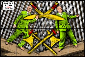 BATTLE ROAD by Gilbert & George contemporary artwork