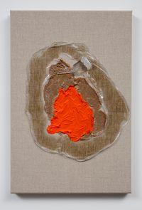 Orange Pool by Judy Darragh contemporary artwork mixed media