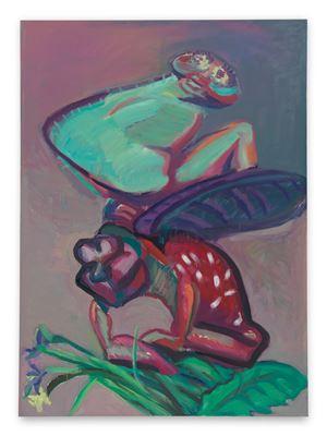 Marienkäferchen und Spinne / Marienkäferchen fliegfurt! (Ladybug and Spider / Ladybug, Fly Away!) by Maria Lassnig contemporary artwork