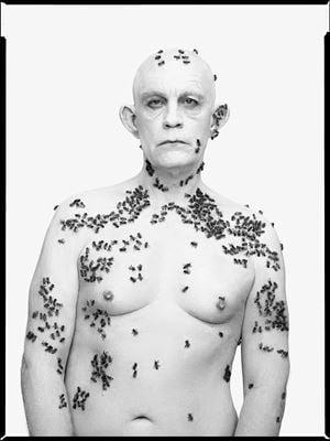 Richard Avedon/ Ronald Fischer, Beekeeper, Davis, California, May 9, (1981) by Sandro Miller contemporary artwork