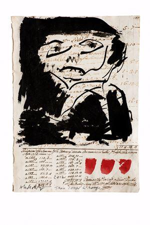 Trois coups de rouge by Pierre Alechinsky contemporary artwork