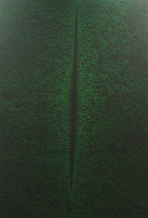 Hijau (Lucio Fontana series no.8) by Rudi Mantofani contemporary artwork