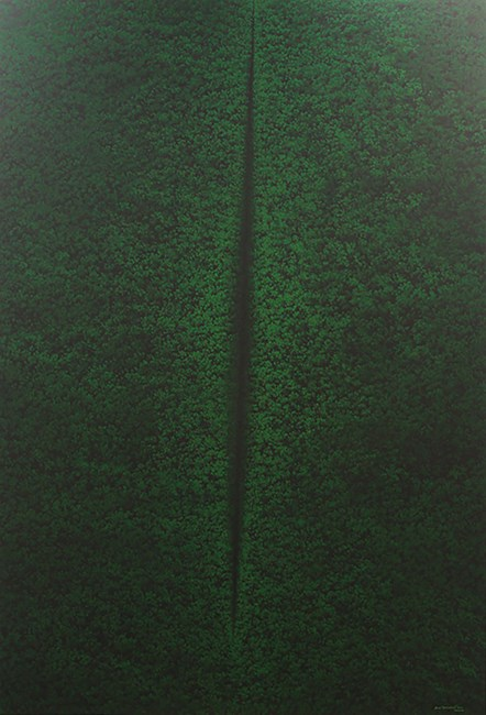 Hijau (Lucio Fontana series no.8) by Rudi Mantofani contemporary artwork