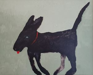 Black Dog #4 by Sally Bourke contemporary artwork