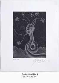 Snake Head No.4 by Ashley Bickerton contemporary artwork print