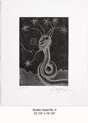 Snake Head No.4 by Ashley Bickerton contemporary artwork