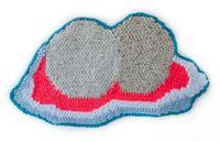 Peach Bum by Caroline Wells Chandler contemporary artwork textile