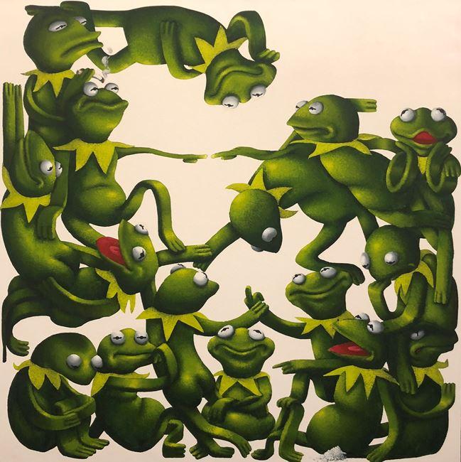 Kermit Overwhelming by Sebastian Chaumeton contemporary artwork